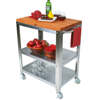 Cucina Culinarte Kitchen Cart w/Removable Cherry Top by John Boos
