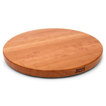 John Boos Cherry Lazy Susan, with Ball Bearing Swivel, Varnique