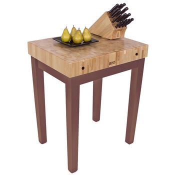 "John Boos Chef Block, 30""W x 24""D x 36""H, 4"" Thick, Walnut Stain"