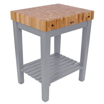 John Boos Chef Block with Shelf, Slate Gray