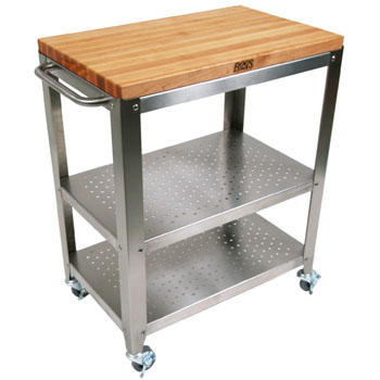 Cucina Culinarte Kitchen Cart W Removable Maple Top By