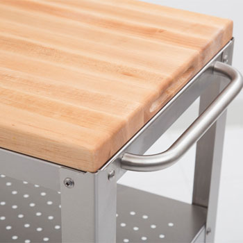 John Boos Kitchen Cart w/ Removable Cutting Board Top