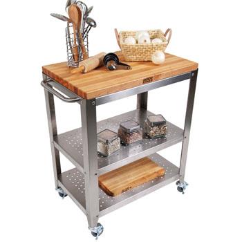 John Boos Cucina Culinarte Kitchen Cart W Removable Maple Top 30 X 20 D 35 H