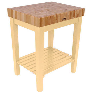 Maple Chef Block with Slatted Shelf by John Boos