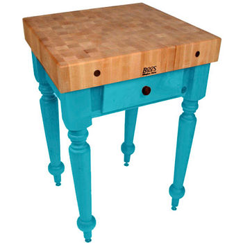 30'' Caribbean Blue Work Table