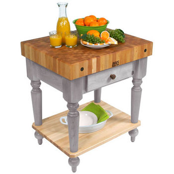 30'' Useful Gray Stain Work Table with Shelf