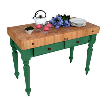 48'' Clover Green Work Table