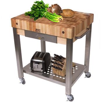 Cucina Technica Butcher Block Cart by John Boos