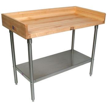 Varnique Work Table w/ Butcher Block Top