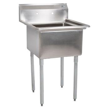 """John Boos E-Series Single Bowl Sink 12"""" Bowl Depth"""