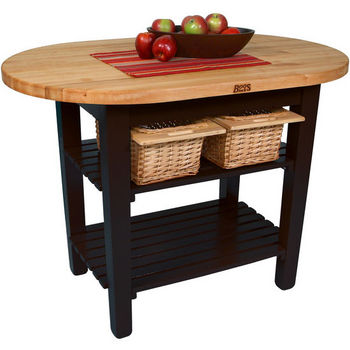John Boos Elliptical C-Table Kitchen Islands