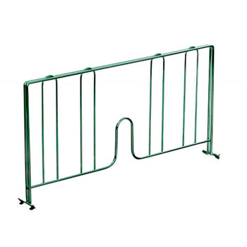 John Boos Divider, Green For Epoxy Wire Shelving