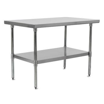 Work Table w/ Stainless Steel Legs & Shelf