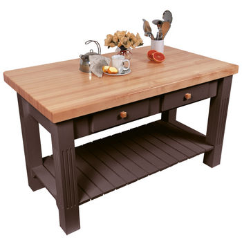 "John Boos Grazzi Table, 60""W x 28""D x 2¼"" Thick, French Roast"