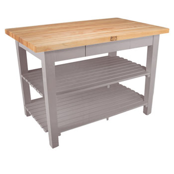 Useful Gray Stain Base, 2 Shelves