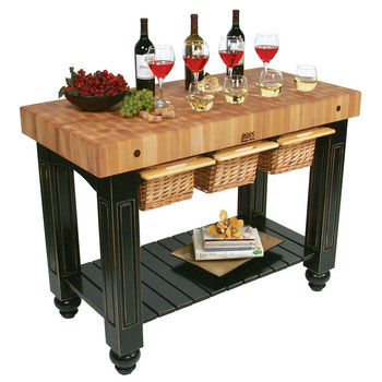 John Boos Gathering Block III Kitchen Island with 4\'\' Thick ...