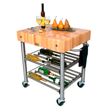 John Boos Wine Cart