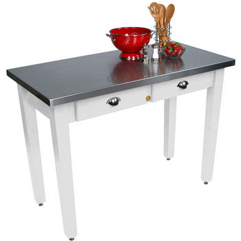 "36"" D Cucina Milano Kitchen Island with Stainless Steel Top by John Boos"