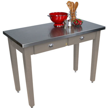 "24"" D Cucina Milano Kitchen Island with Stainless Steel Top by John Boos"