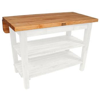 John Boos Kitchen Island Bar Work Table, 48in x 32in, Alabaster