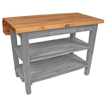 John Boos Kitchen Island Bar Work Table, 48in x 32in, Slate Gray
