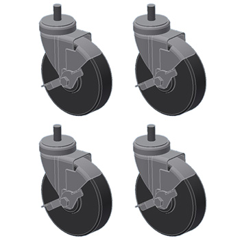 3D CAD Drawing Casters