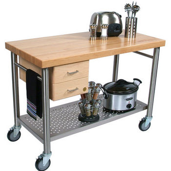 Cucina Magnifico Kitchen Cart with Dovetailed Drawers by John Boos