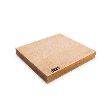 """John Boos Northern Hard Rock Maple Rustic-Edge Design Reversible Cutting Board, 13""""W x 12""""D x 1-3/4""""H"""