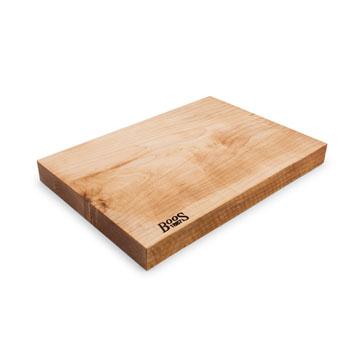 """John Boos Northern Hard Rock Maple Rustic-Edge Design Reversible Cutting Board, 17""""W x 12""""D x 1-3/4""""H"""