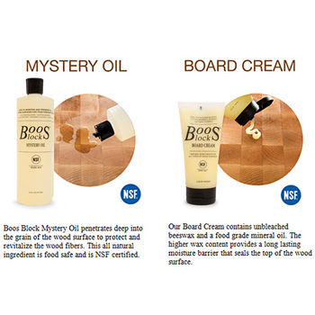 John Boos Oil & Cream Info