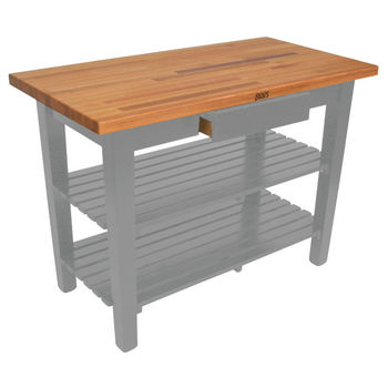 Slate Gray Oak Table w/ 2 Shelves