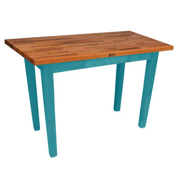 Caribbean Blue Oak Table