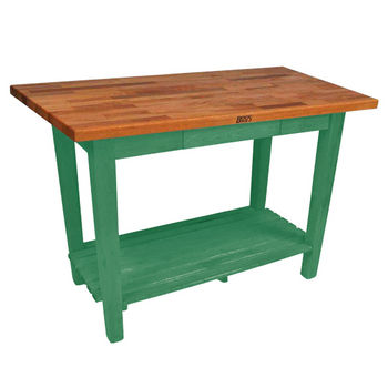 Clover Green Oak Table w/ 1 Shelf