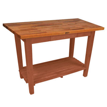 Spicy Latte Oak Table w/ 1 Shelf
