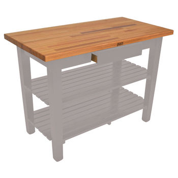 Useful Gray Stain Oak Table w/ 2 Shelves