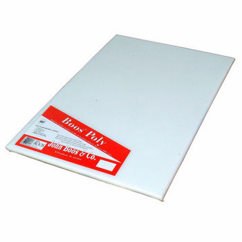 John Boos Poly 1000 Reversible NSF Cutting Board, Pure White