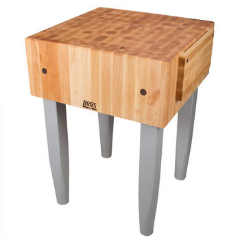 John Boos PCA Butcher Block with Knife Holder, Slate Gray, Multiple Sizes Available