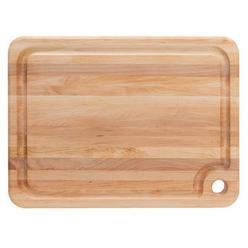 John Boos Prestige Cutting Board with Groove & Finger Grip Hole, Northern Hard Rock Maple Edge Grain, Reversible