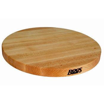 John Boos R-Board Collection Reversible 18'' Diameter x 1-1/2'' Thick, Maple Edge Grain