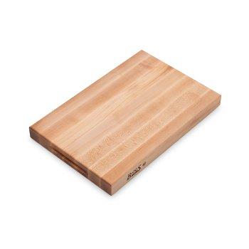 "John Boos Platinum Board Cutting Board Northern Hard Rock Maple, Edge Grain, 18"" W x 12"" D x 1-3/4"" Thick, Reversible w/ Recessed Finger Grips, Boos Block Cream Finish w/ Beeswax"