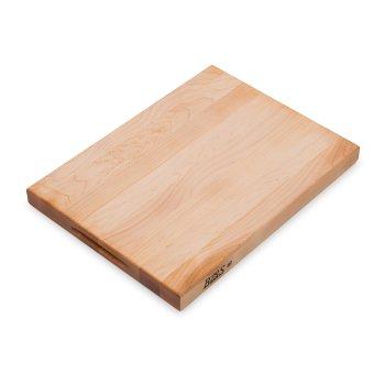 "John Boos Platinum Board Cutting Board Northern Hard Rock Maple, Edge Grain, 20"" W x 15"" D x 1-3/4"" Thick, Reversible w/ Recessed Finger Grips, Boos Block Cream Finish w/ Beeswax"