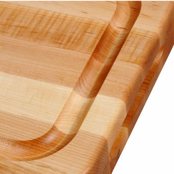 John Boos Professional Collection RAD with Finger Grips & Groove Reverse Side Flat, Maple Edge Grain