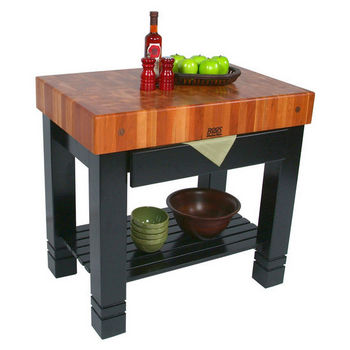 John Boos Bloc De Foyer Butcher Block Kitchen Island 36 W X 24 D 34 H