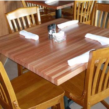 Red Oak Rectangular Butcher Block Table Tops by John Boos