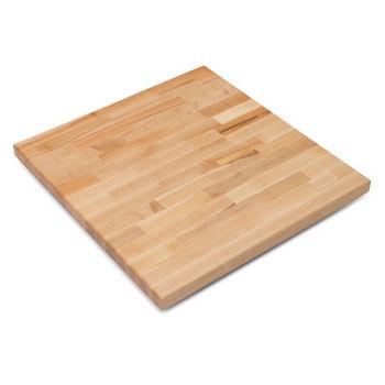 John Boos Maple Blended Butcher Block Table Top, Jointed Edge Grain  Construction, Random Color, Square, 1/4u0027u0027 Radius.