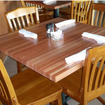Red Oak Rectangular Butcher Block Table Tops