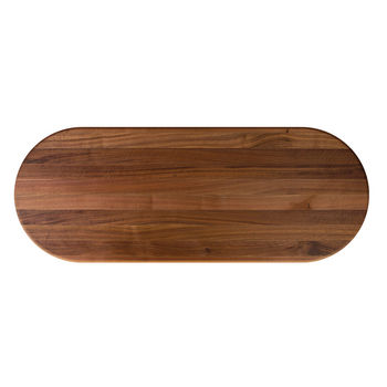 John Boos Premium American Black Walnut Oval Top