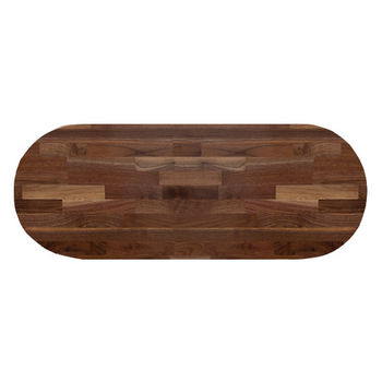 John Boos Blended American Black Walnut Oval Top