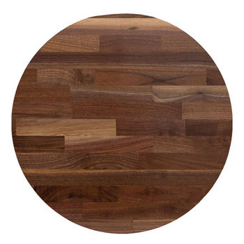 Lovely John Boos Walnut Blended Butcher Block Table Top, Jointed Edge Grain  Construction, Random Color, Round, 1/4u0027u0027 Radius.