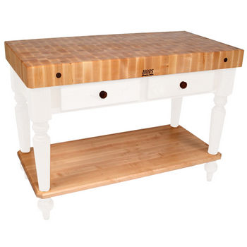 48'' Alabaster Work Table with Shelf